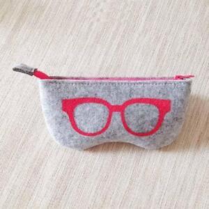 Brillenetui-Portable-weichen-Filz-Sonnenbrille-Reissverschluss-Make-up-Tasch-Q8Z0
