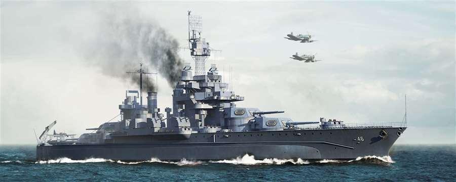 05770 USS Battleship BB-46 Maryland Battleship Plastic Trumpeter Model 1 700