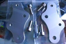 GSXR 750 GSXR750 Silver Rear Set Riser Plates  Risers