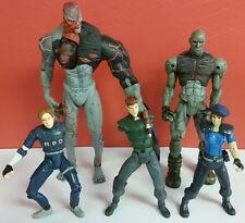 Toy Biz Resident Evil Action Figure Lot - Tyrant/Nemesis/Jill/Chris/Leon Incompl