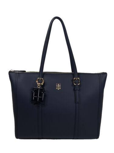 Tommy Hilfiger Damen Handtasche Tasche Henkeltasche TH Chic Tote Blau AW0AW07986