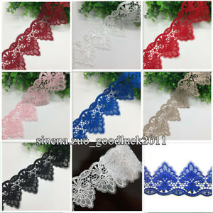 1-Yard-Polyester-Lace-Trim-Ribbon-Embroidered-DIY-Sewing-Craft-Trimming-FL109
