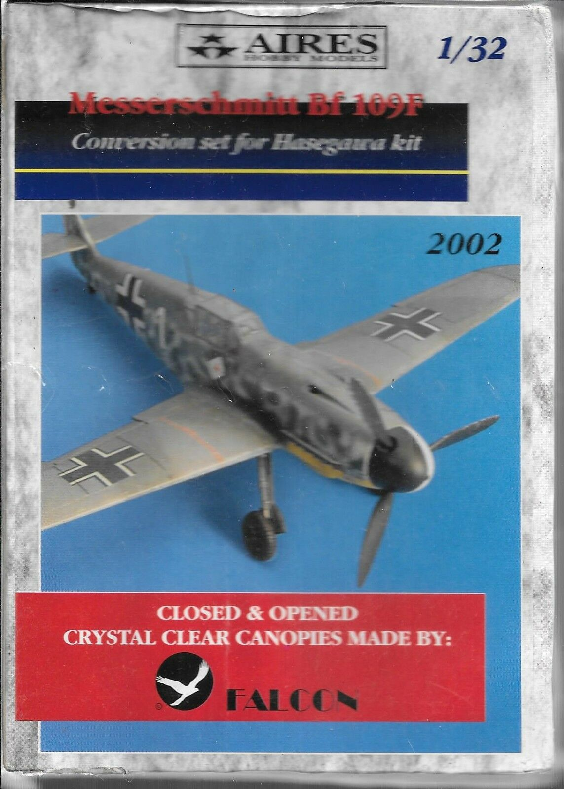 Aires Messerschmitt Bf-109F Conversion Set For Hasegawa Kit in 1 32 2002 DO