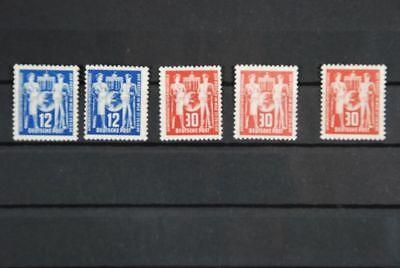 1949 Ddr 1x Postfr Hitze Und Durst Lindern. 1x Postfrisch & Mi-nr:244: 2x Falz Mi-nr: 243: 1x Falz