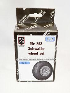 Conjunto de rodas Halberd Modelos Me 262 Schwalbe Para Escala 1//32 Revell /& Trumpeter