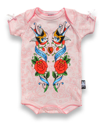 Six bunnies à manches courtes Babygrow-Together Forever