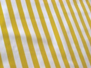 Ordinaire Image Is Loading YELLOW WHITE CABANA STRIPES SUN PICNIC BEACH OILCLOTH