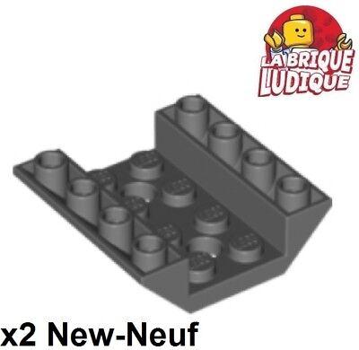 Lego Bau- & Konstruktionsspielzeug Baukästen & Konstruktion Lego 2x Steigung Invertiert 45 4x4 2 Löcher Schale Schiff Graue F/d B Gray 72454