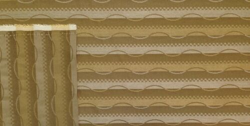 CRYPTON PATHWAY WALNUT BROWN WAVY STRIPES WORRY FREE JACQUARD FABRIC BY THE YARD