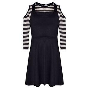 Kids-Girls-Skirts-Designer-Pinafore-Skirt-amp-Shoulder-Cut-Style-Crop-Top-7-13-Yr