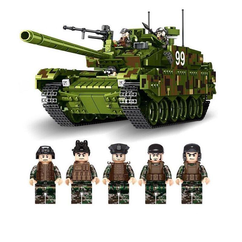 Nuevo 1339 un. Militar Ejército Tanque de batalla principal de tipo 99 bloques de construcción ladrillos Modelo
