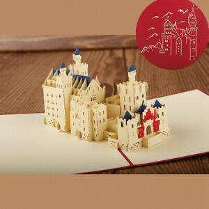 3D-Handcraft-Postcard-Birthday-Greeting-Card-Hollow-Castle-Christmas-Cards-Gifts