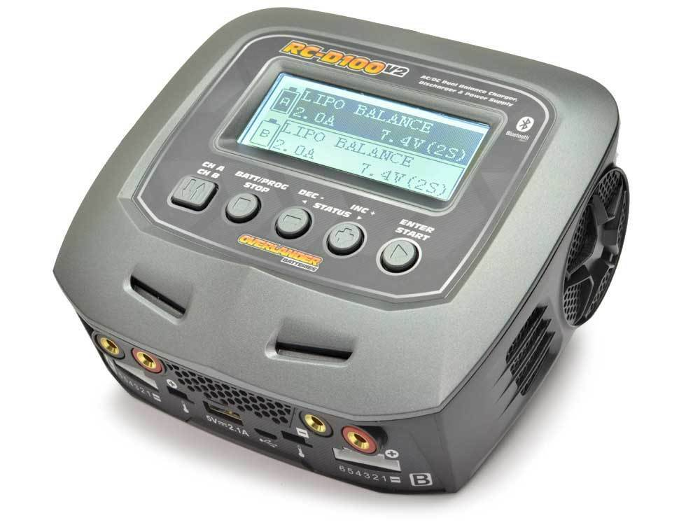 Overlander D100 V2 AC DC DUAL equilibrio cargador descargador Alimentación Soporte