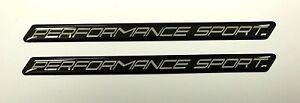 PERFORMANCE-SPORT-Slimline-Chrome-on-Black-Stickers-HIGH-GLOSS-DOMED-GEL