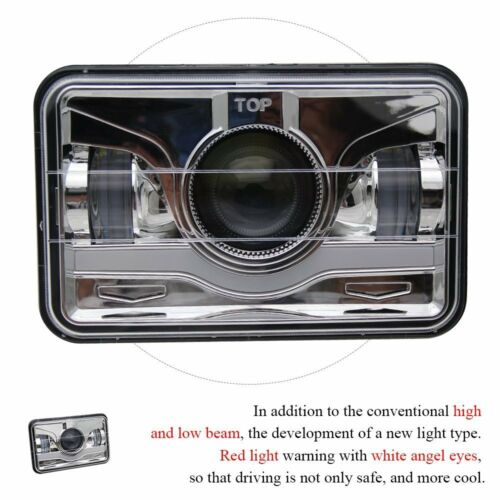 "4x6/"" High Low Beam LED Healights For Honda XR250 XR400 XR650 Suzuki DRZ"