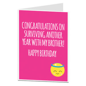 Image Is Loading Funny Sister In Law Happy Birthday Cards