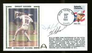 Dwight-Gooden-Herb-Score-Rookie-K-Record-Signed-FDC-Autographed-56208