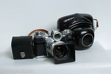 Zeiss Ikon Contarex Bullseye + Carl Zeiss planar 50mm/2 Lens hood, leather case