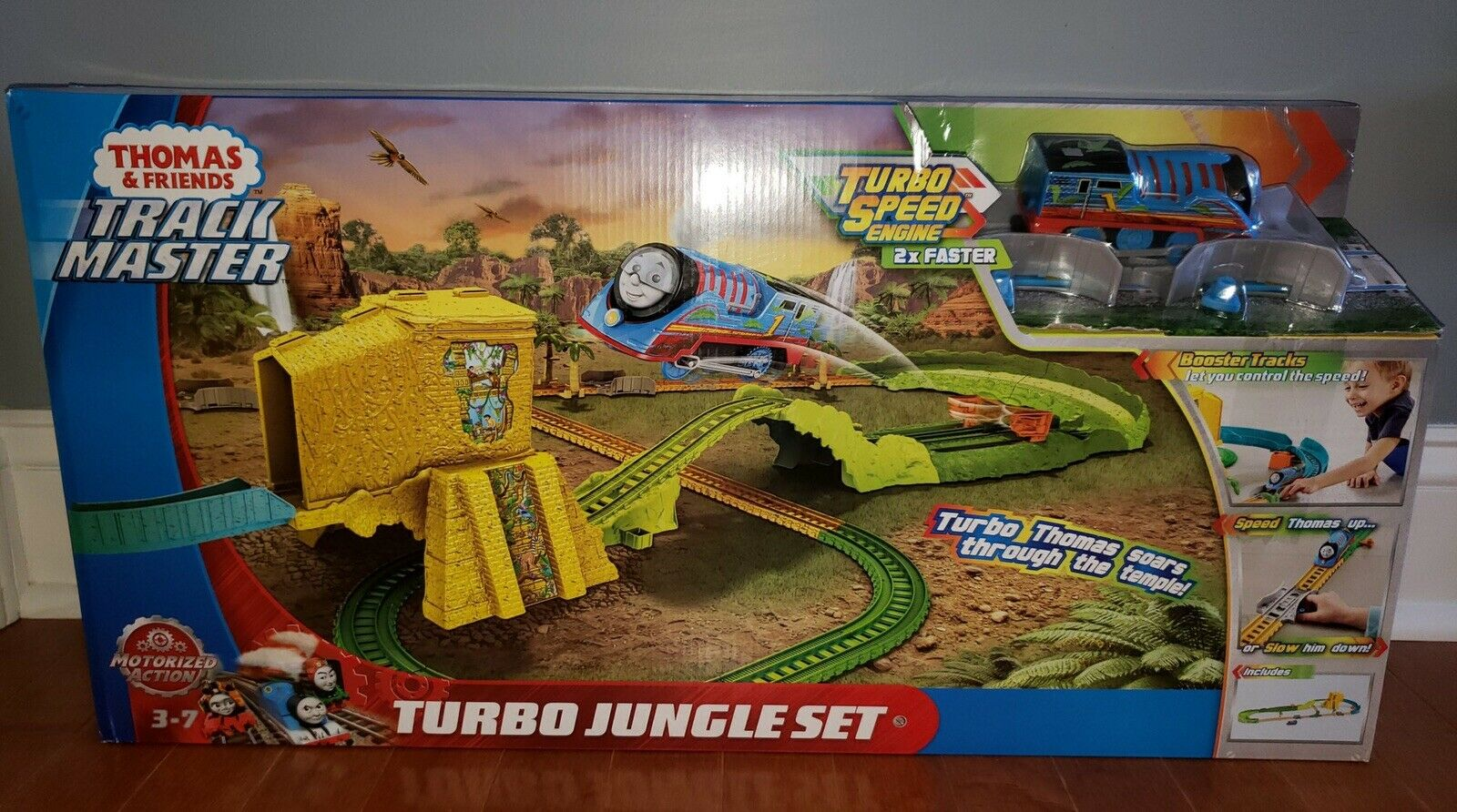 Fisher-Price Thomas and Friends Trackmaster Turbo Jungle Train Train Train Set New dc6
