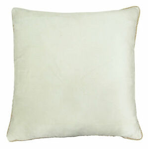Image Is Loading Indian White Velvet Embossed Square Pillow Case Sofa