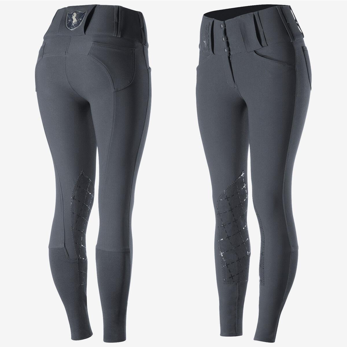Parche hasta la rodilla para mujer horze Desiree Pantalones De Montar Equitación con cintura alta y bi-stretch