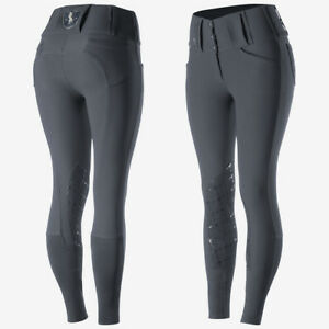 Horze-Desiree-Women-039-s-Knee-Patch-Riding-Breeches-with-High-Waist-and-Bi-Stretch