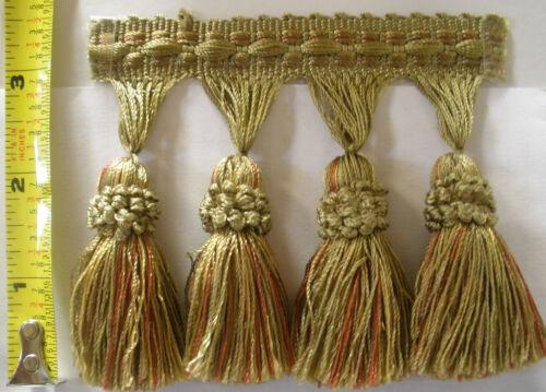 1 Yd  Malabar Barnacle Single Tassel Fringe-Gimp Top drapery upholstery sew