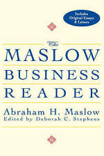 The MASLOW BUSINESS READER Abraham H Maslow (Hardback, 2000) 9780471360087 - VGC