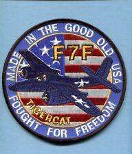 GRUMMAN F7F F7 TIGERCAT USMC US NAVY WW2 KOREA Fighter Squadron Jacket Patch