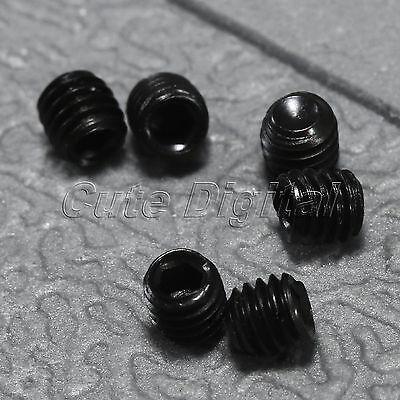 50Pcs M3 x 3mm Black Carbon Steel Hex Socket Grub Screws Nuts Headless Cup Point