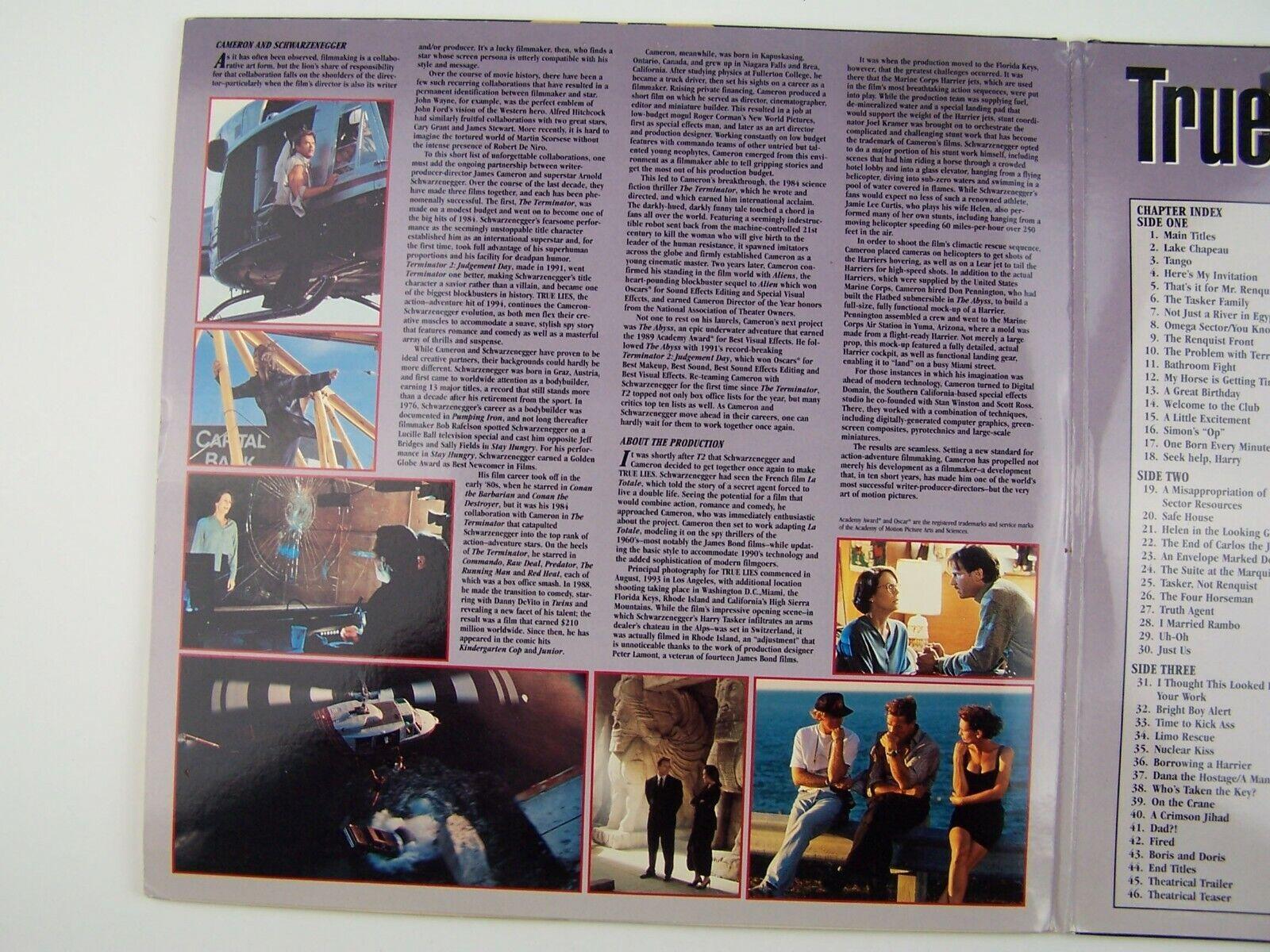 True Lies LaserDisc LD 1994 8640-85