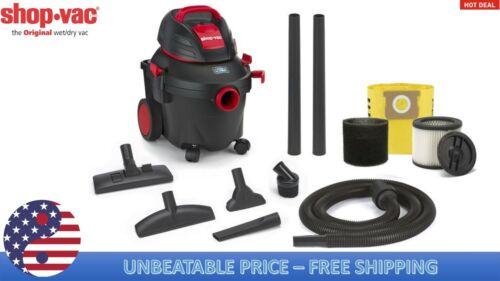 Shop-Vac 4-Gallon 5.5-HP Wet//Dry Home Garage Shop Vacuum-Cleaner Lightweight
