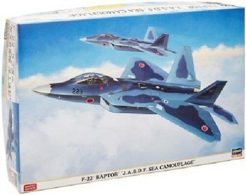 Hasegawa 1 72 F-22 Raptor J.A.S.D.F. Sea Camouflage Model Kit NEW from Japan