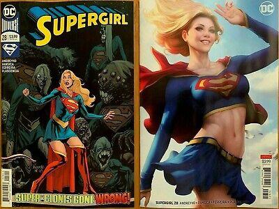 SUPERGIRL #14 STANLEY ARTGERM LAU B variant 1st print DC COMIC movie coming NM