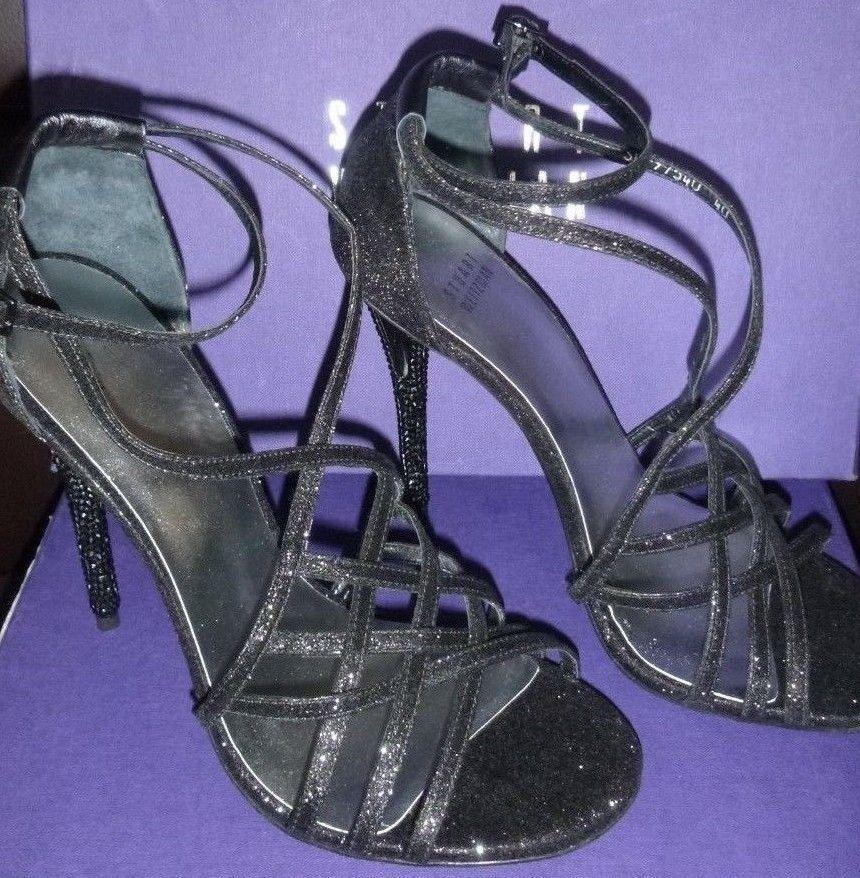 Stuart WeitzFemme WeitzFemme WeitzFemme stripmall Noir Mini Paillettes Talons Hauts Chaussures/ s-New in Box | Pour Gagner L'éloge Chaleureux De La Part Des Clients  41d7c1