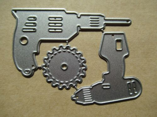 NEW Set Of 3 Power Tools Drills DIY Father/'s Fathers Day Metal Craft Dies