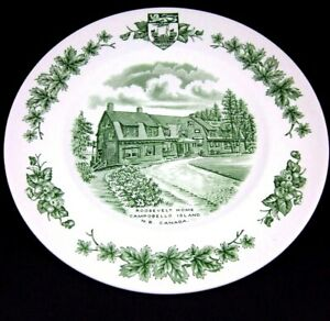 Wood-amp-Sons-Roosevelt-Home-Campobello-Island-New-Brunswic-Atlantic-Canada-Plate