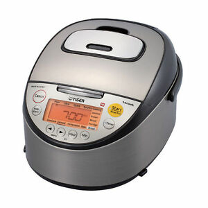 Tiger JKT-S Series 5.5 Cups Rice Cooker - Black/Stainless Steel