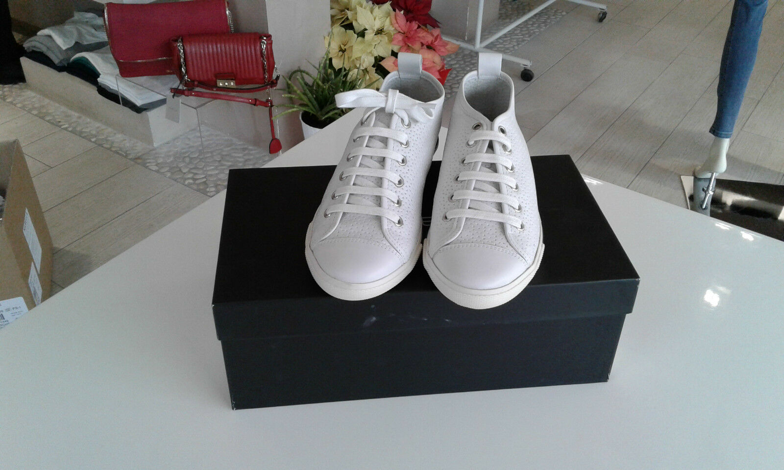 Sneakers bianca in pelle PENNYBLACK, Tg.37