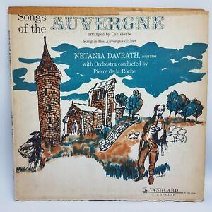 NETANIA DAVRATH songs of the auvergne vol 21 LP VG+ VSD-2090