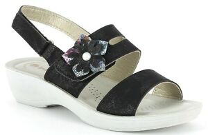 Mujer Black Inblu Wedge Zapatillas Wellness Pl50 Sandals Sandalias Art TF1cl3KJ