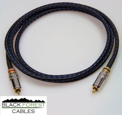 Sommercable Classique blau-schwarz EK Subwooferkabel 1x5m