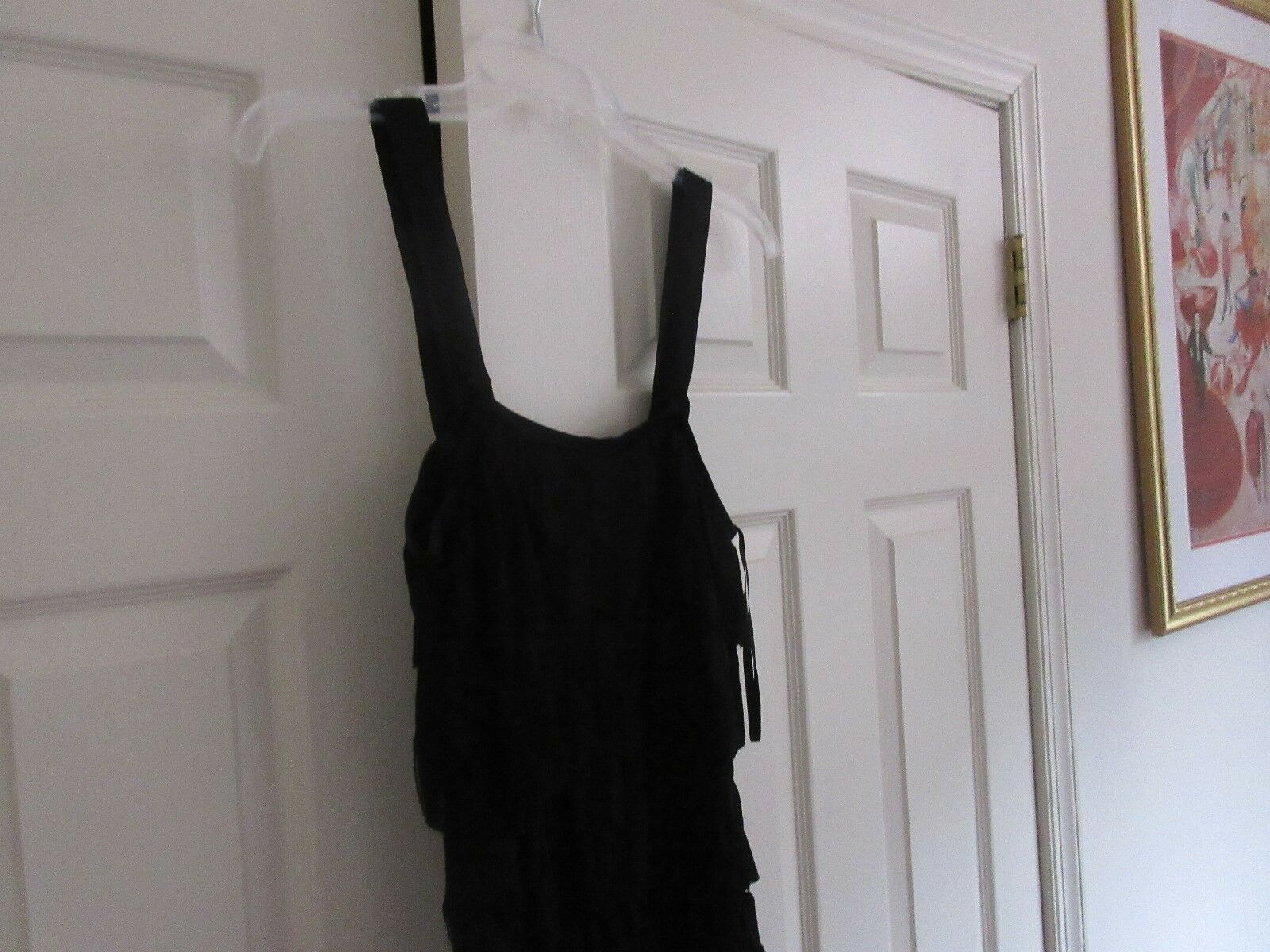 White Hose Black Market , Ladies Top , Black , Size S ,