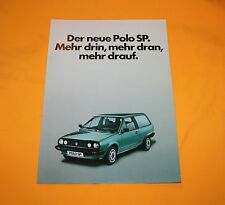 VW Polo SP 1983 Prospekt Brochure Prospetto Depliant Catalog Folder Prospecto