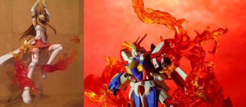 Effetto fiamma fuoco Bruciante 1//6 GUNDAM Figura Hot Toys Kamen Rider Phicen ❶ USA ❶