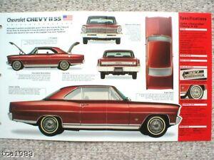 1966-1967 CHEVROLET CHEVY II SS Car SPEC SHEET BROCHURE PHOTO BOOKLET