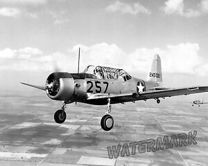 Photograph-of-a-Aircraft-Vultee-BT-13-Valiant-Trainer-in-Flight-Year-1941-8x10