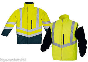 Delta Plus Panoply Optimum High Visibility Hi Viz Waterproof Jacket Bodywarmer