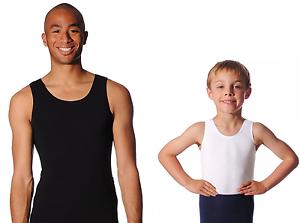 ROCH-VALLEY-Mens-and-Boys-Cotton-Sleeveless-Dance-Leotard-Ballet-Black-White