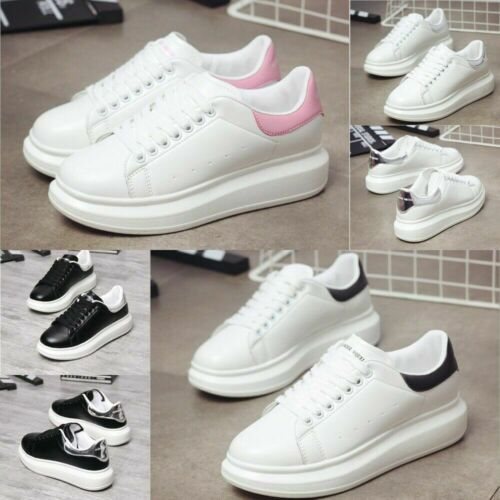 Women/'s Ladies Chunky Lace Up Trainers Sports Running Comfy Trainers Shoes UK3-9
